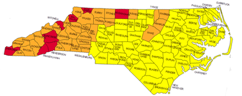 Radon Gas in North Carolina